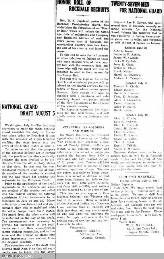 19170712 Rockdale Reporter, 12 Jul 1917, pg 1.jpg - 334kB