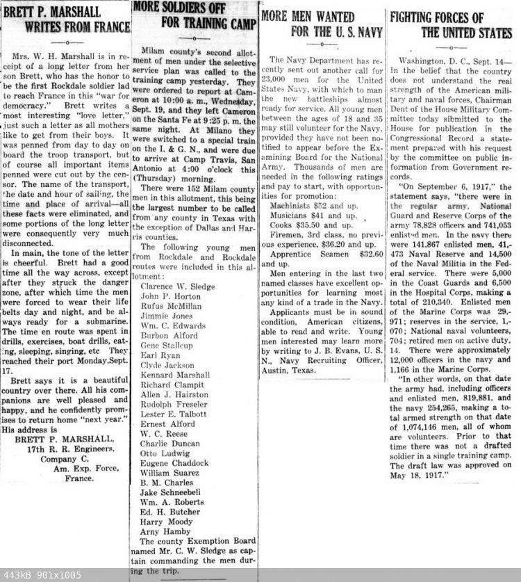 19170920 Rockdale Reporter, 20 Sep 1917, pg 1.jpg - 443kB