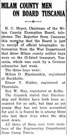 19180214 Rockdale Reporter, 14 Feb 1918, pg 1.jpg - 55kB