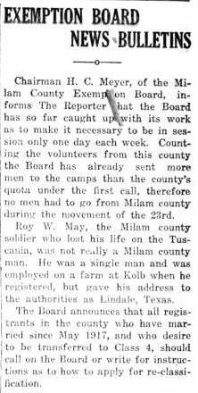 19180228 Rockdale Reporter, 28 Feb 1918, pg 1.jpg - 56kB