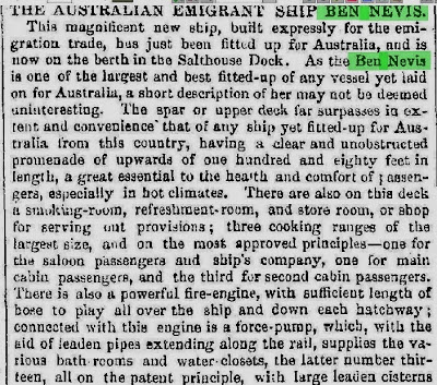Ben Nevis Freemans journal and Commercial Advertiser, 6 Sep 1852, 1a.JPG - 77kB