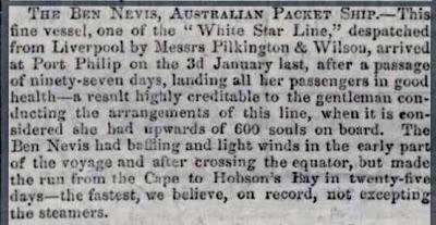 Ben Nevis arrival, per Elgin Courier 15 Apr 1853.JPG - 32kB